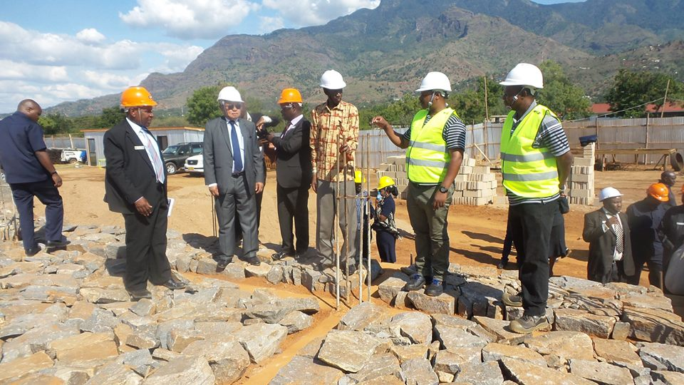 Hon.Warioba and Chande visits new labs construction site