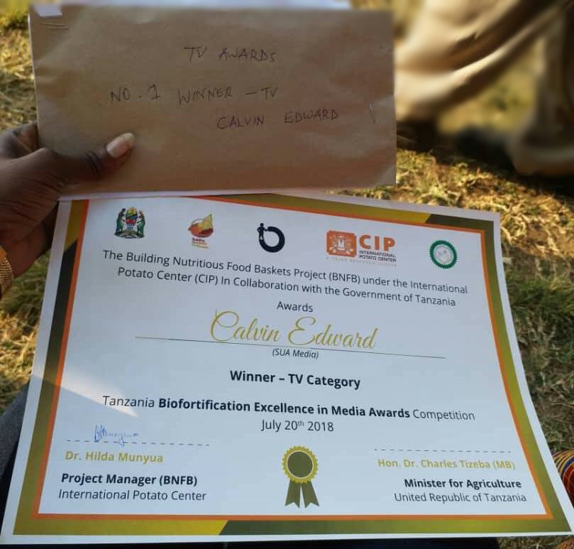 The Biofortification excellence in Journalism awards in the Television Category