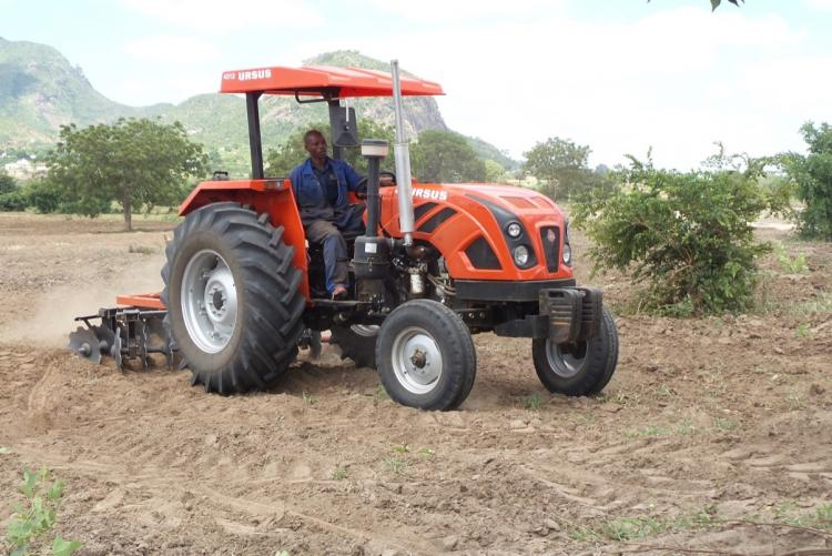 New Tractor in action