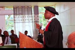 Prof. Maulid Walad Mwatawala of Sokoine University of Agriculture presenting his professorial inaugural lecture on Facilitating International Agricultural Trade through Science: The Case of Tephritid Flies