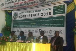 Participants of the second annual AGRICULTURE & AGRIBUSINESS CONFERENCE which take place in conjunction with the Sokoine Memorial week 9 - 12th April 2018.